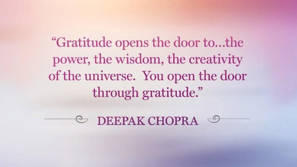 Gratitude - Deepak